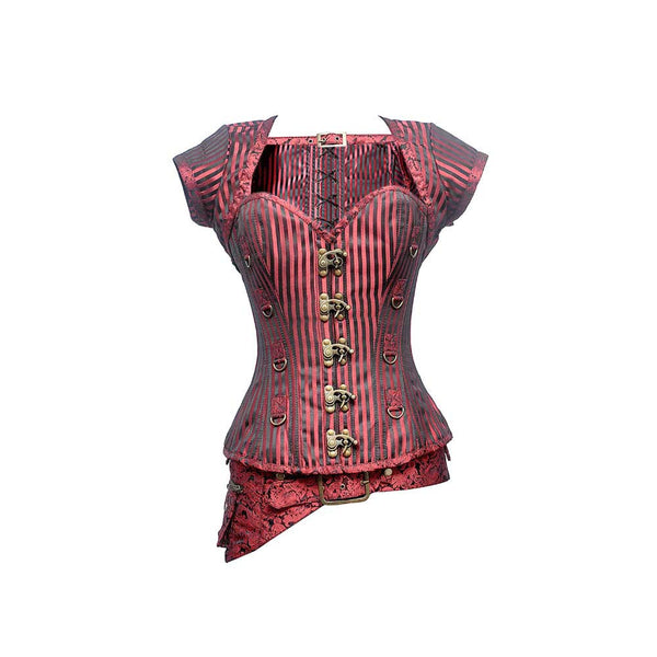 Cathy Steampunk Overbust Corset - Corsets Queen US-CA