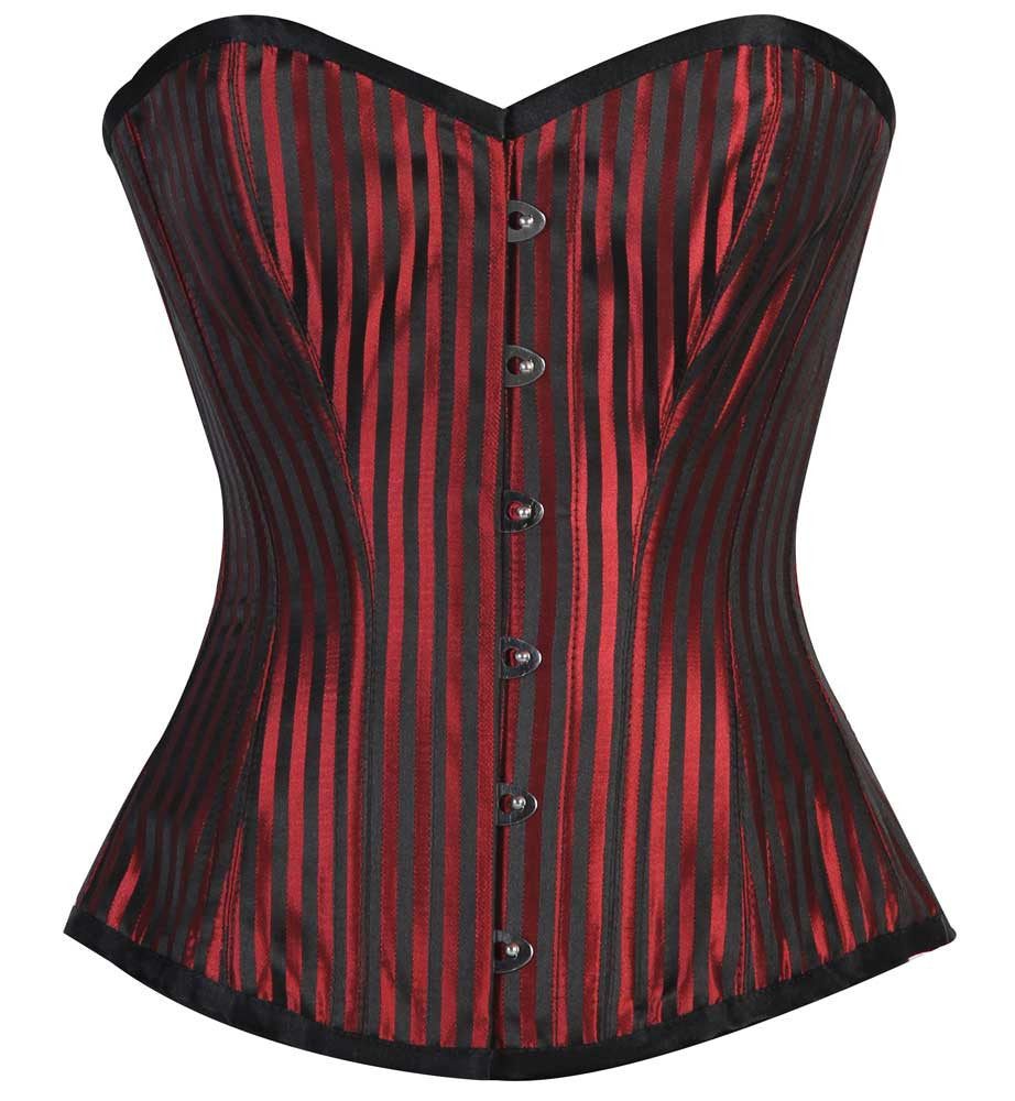 ELEGANT RED/BLACK STRIPE JACQ