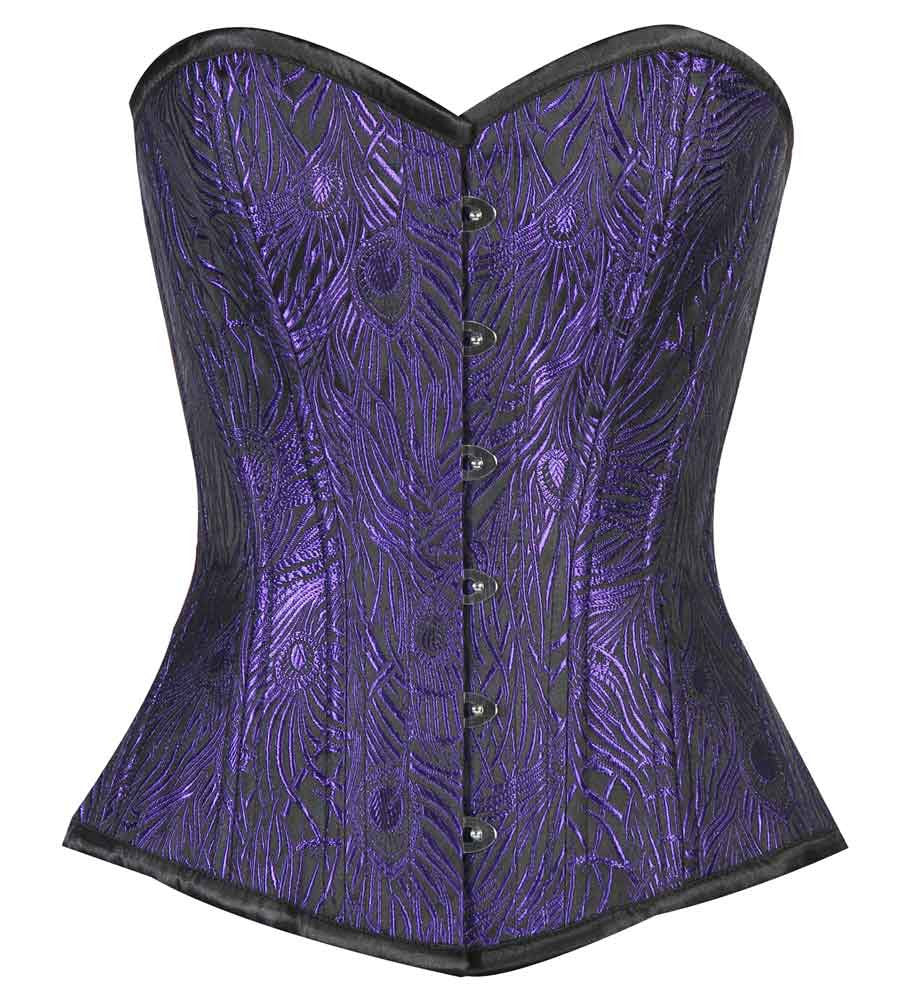 WT-OB BLUE/BLACK FEATHER - Corsets Queen US-CA