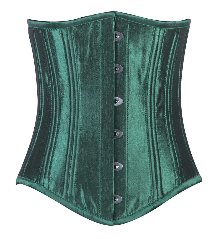 WT-UB LONGER GREEN TAFFETA - Corsets Queen US-CA