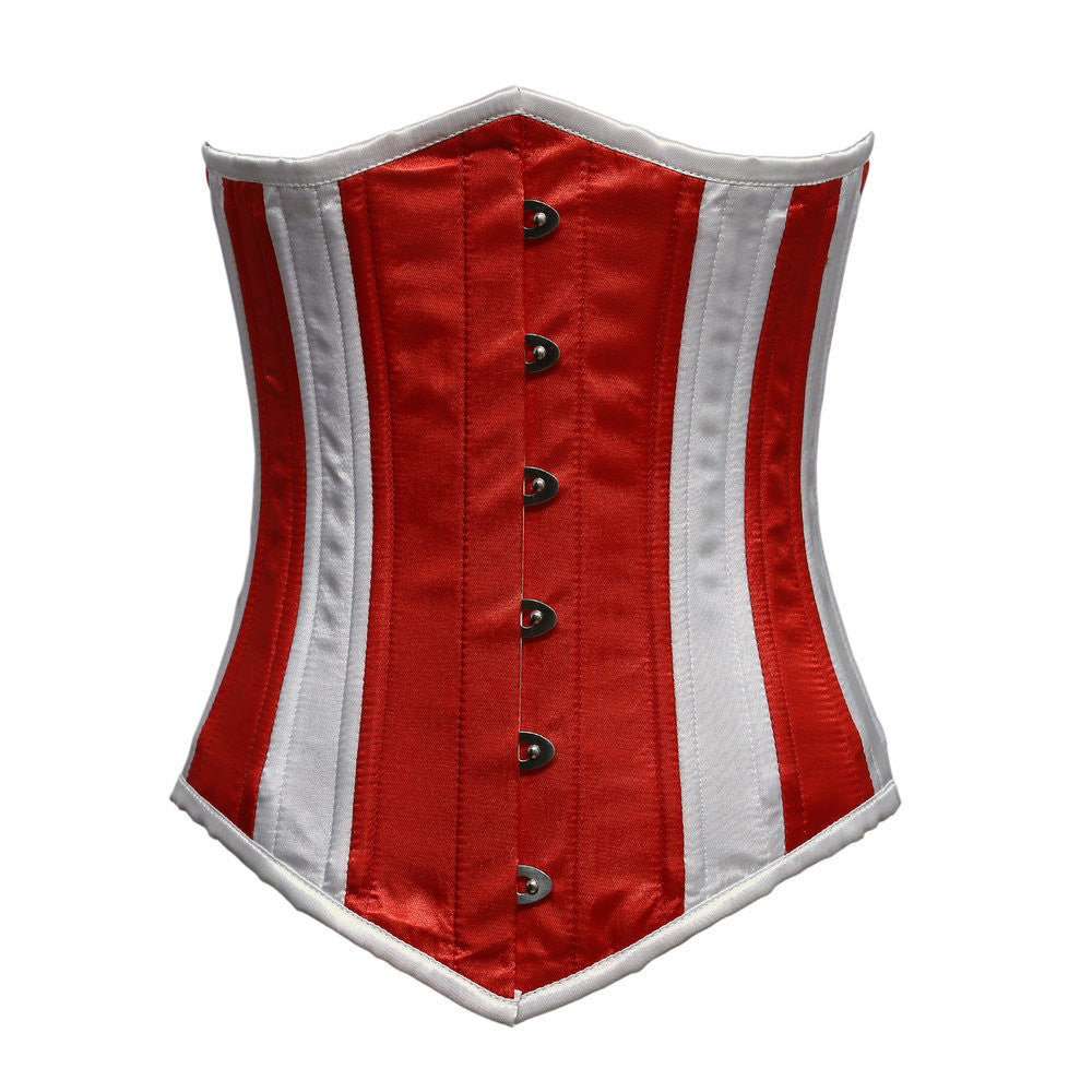 May Satin Waist Training Corset - Corsets Queen US-CA