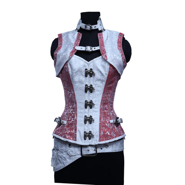 Miah Steampunk Overbust Corset - Corsets Queen US-CA
