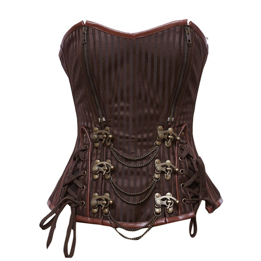 Michelle Steampunk Corset - Corsets Queen US-CA