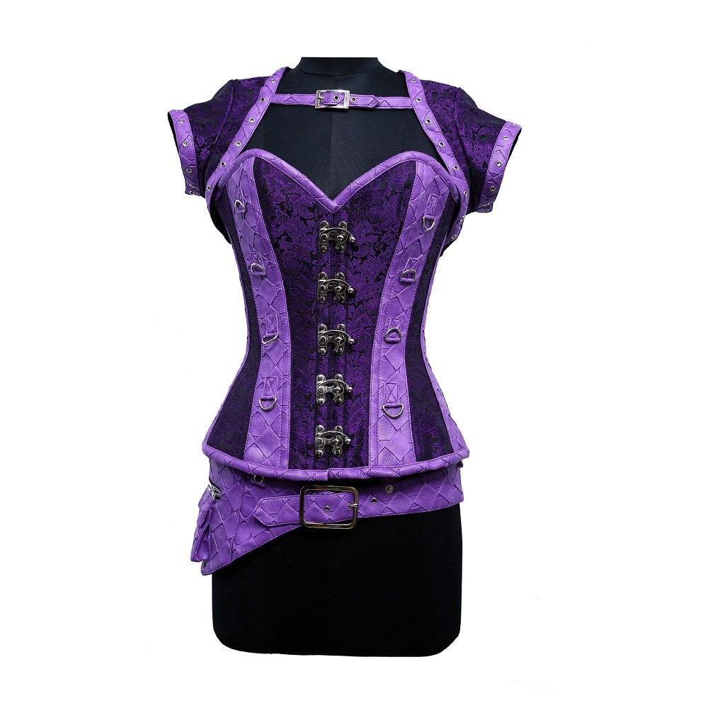 Molly Steampunk Overbust Corset - Corsets Queen US-CA
