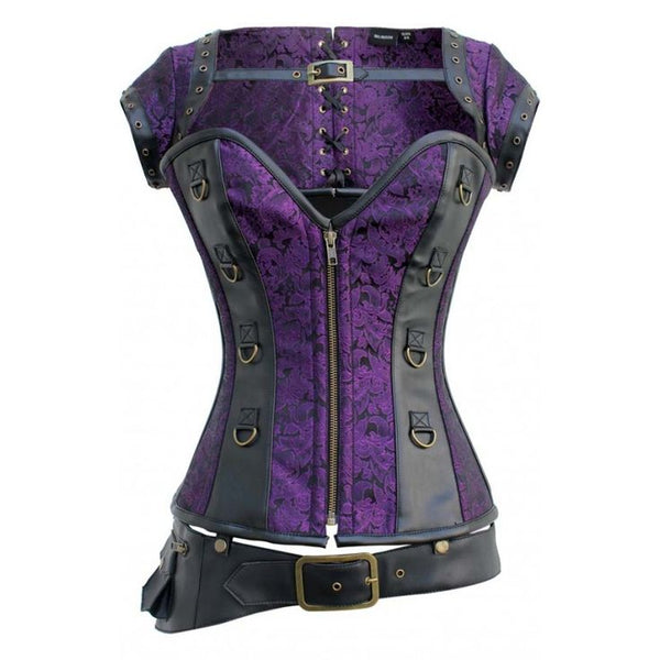 Polina Steampunk Overbust Corset - Corsets Queen US-CA