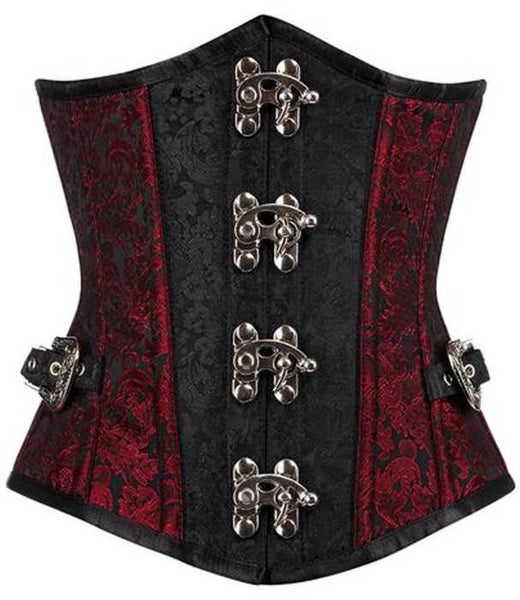 Agustin Brocade Underbust with side buckles - Corsets Queen US-CA