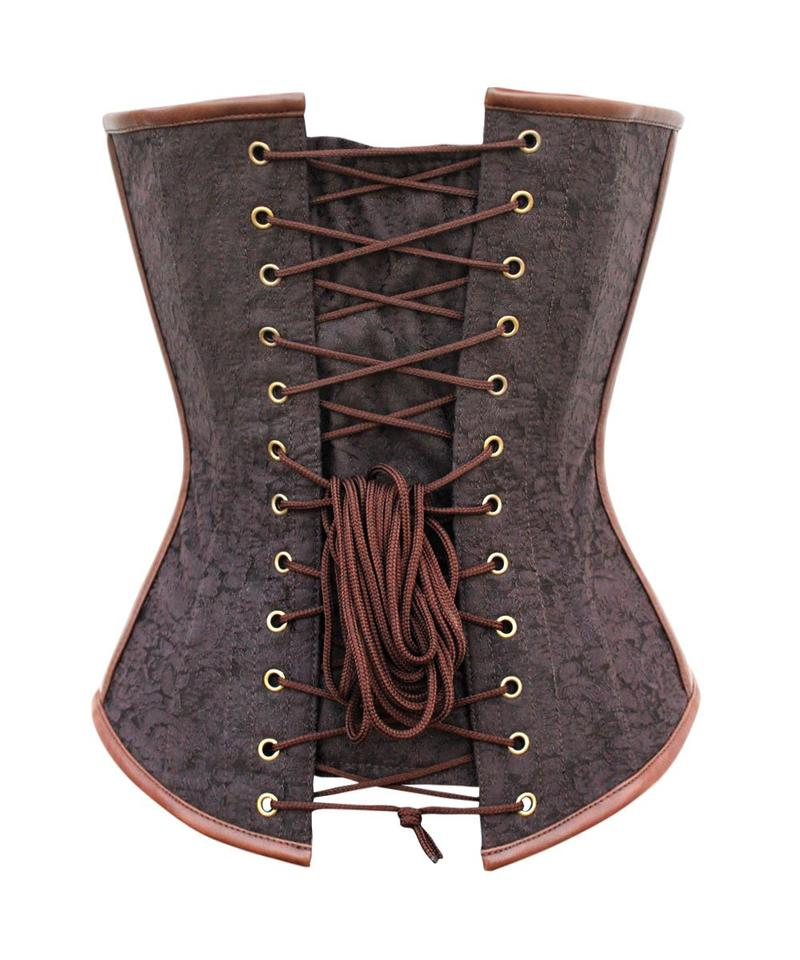 344746650f Dine Instant Shape Steampunk Brocade Corset with Side Buckles View larger.  Previous. Next