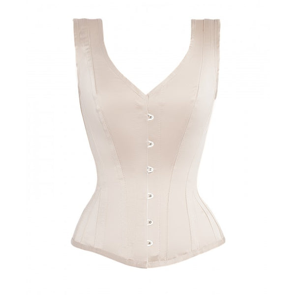 Alfred Overbust Ivory Steel Boned Corset