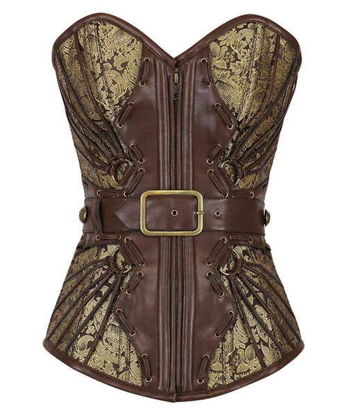 Baker Gold Steampunk Buckle Corset - Corsets Queen US-CA