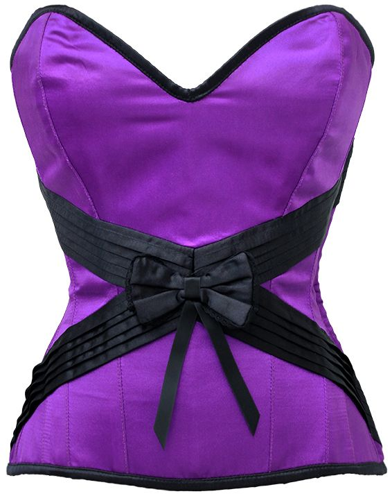 Colley Purple Satin Overbust Corset