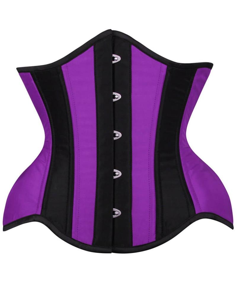 Dane Curvy Purple and Black Waist Training Corset - Corsets Queen US-CA