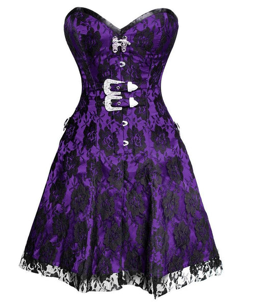 Noli Gothic Net Overlay Corset Dress