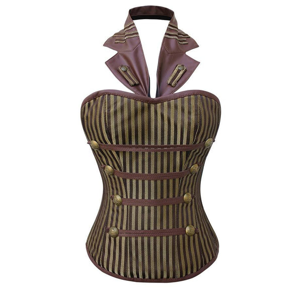 Walker Coffee Gold Steampunk Corset - Corsets Queen US-CA
