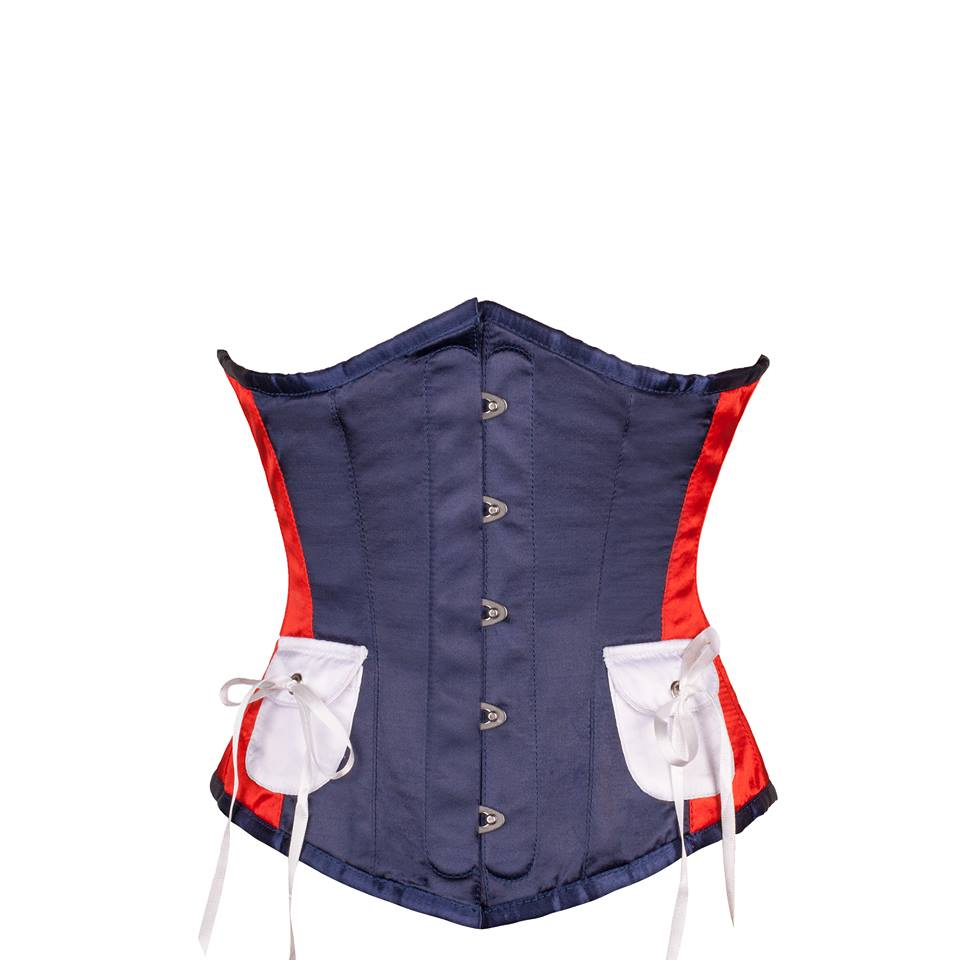 Colleen American Inspired Red, White & Blue Underbust Corset