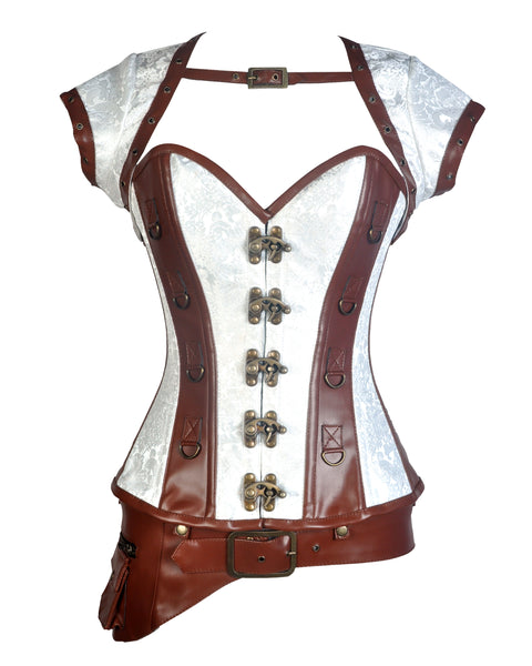 Broad Steampunk Overbust Corset - Corsets Queen US-CA
