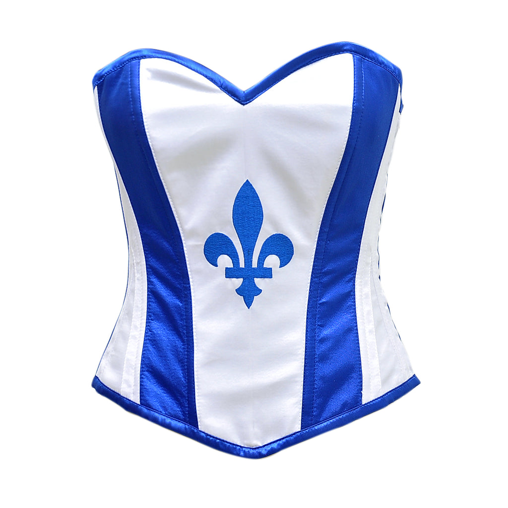 Halland Quebec Flag Corset - Corsets Queen US-CA