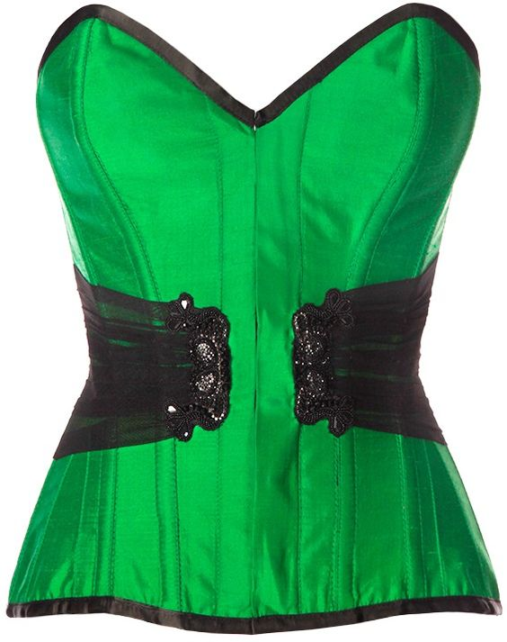 Roisin Embroidered Overbust Corset - Corsets Queen US-CA