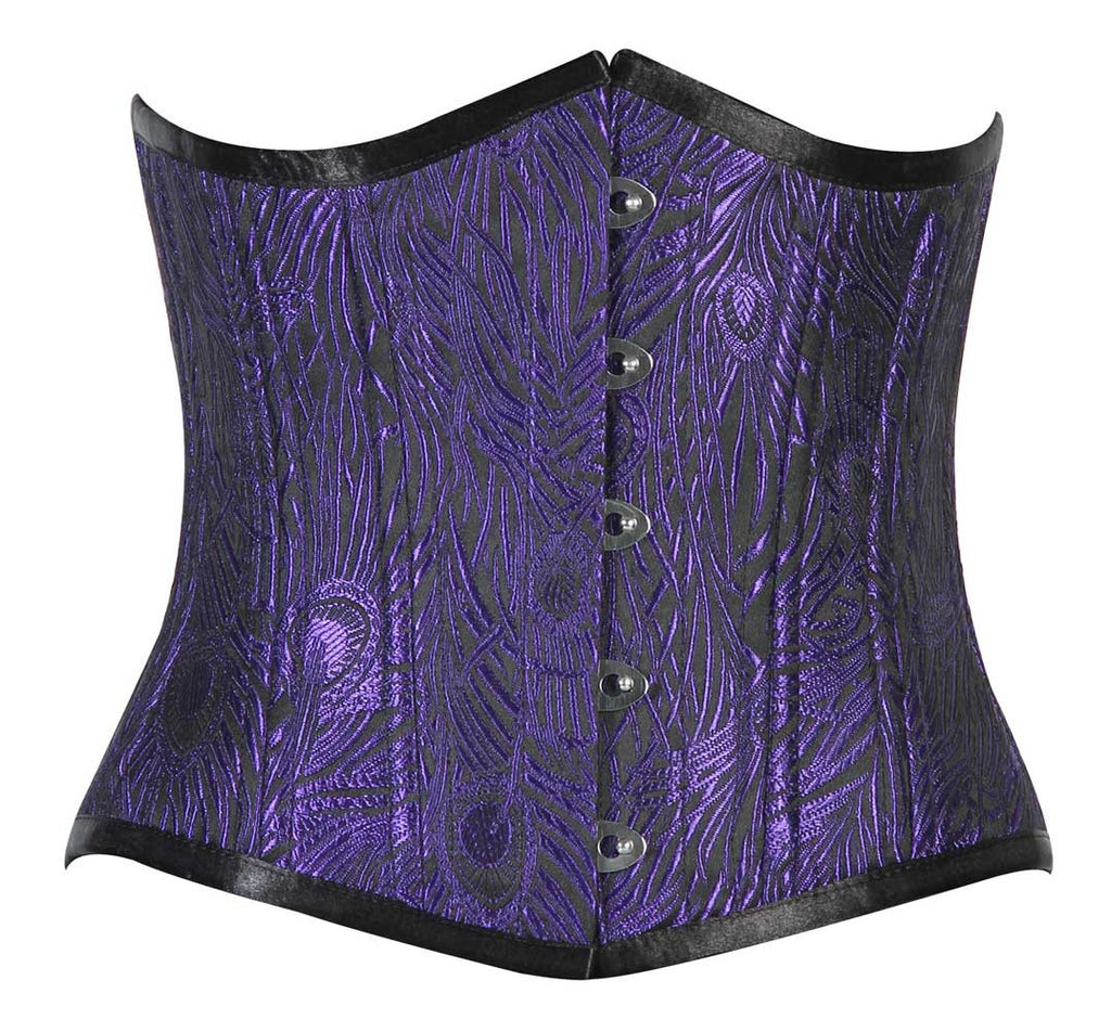 WT-UB BLUE/BLACK FEATHER ( PEACOCK) - Corsets Queen US-CA