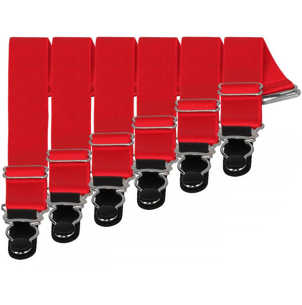Suspender Clips In Red (6)