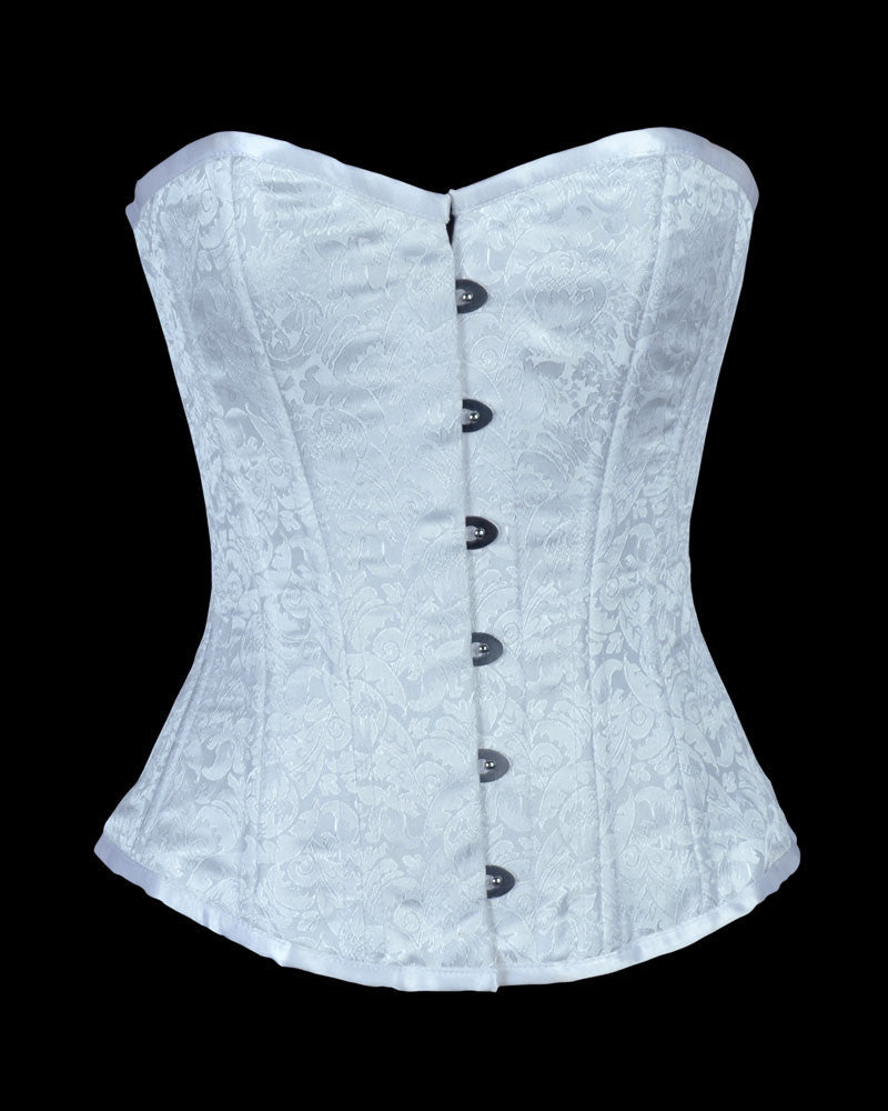 WT-OB WHITE BRO-100 - Corsets Queen US-CA