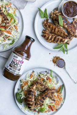 Smoked BBQ Chicken with Coleslaw