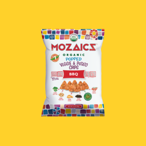 Mozaics Organic BBQ Popped Veggie and Potato Chips Snack Size (36g) - Pure Naturals and Organics