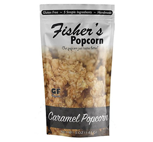 Fisher's Popcorn Medium Caramel (141g) - Pure Naturals and Organics