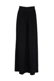 Crape wide-leg pants
