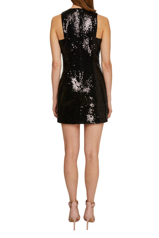Sequined mini dress