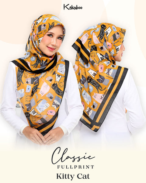BAWAL KEKABOO FULLPRINT KITTY CAT