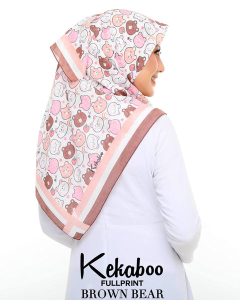 BAWAL KEKABOO FULLPRINT BROWN BEAR
