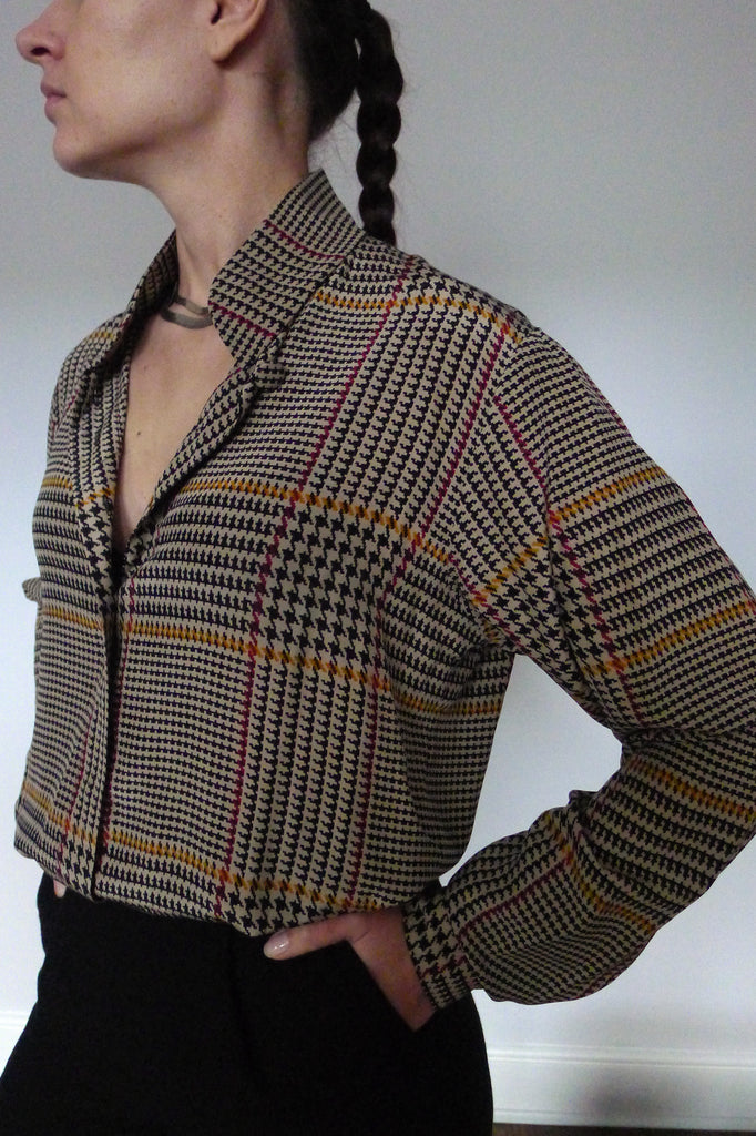 Anne Klein Check Print Shirt