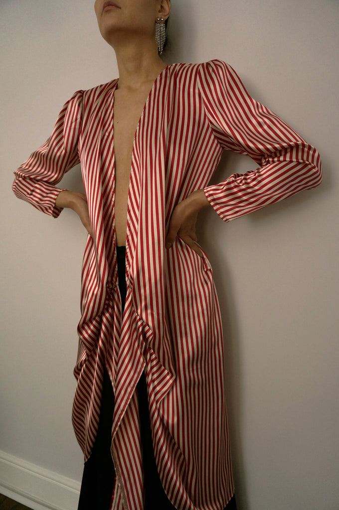 Candy Stripe Wrap Dress