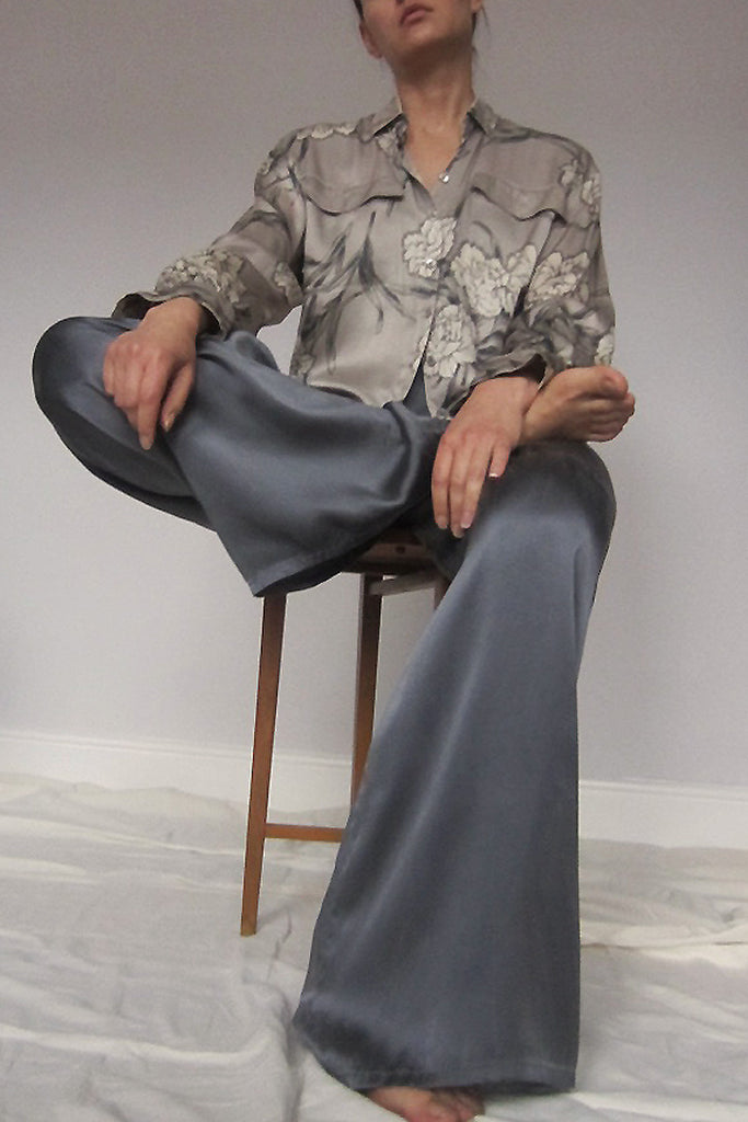 John Galliano Silk Trousers