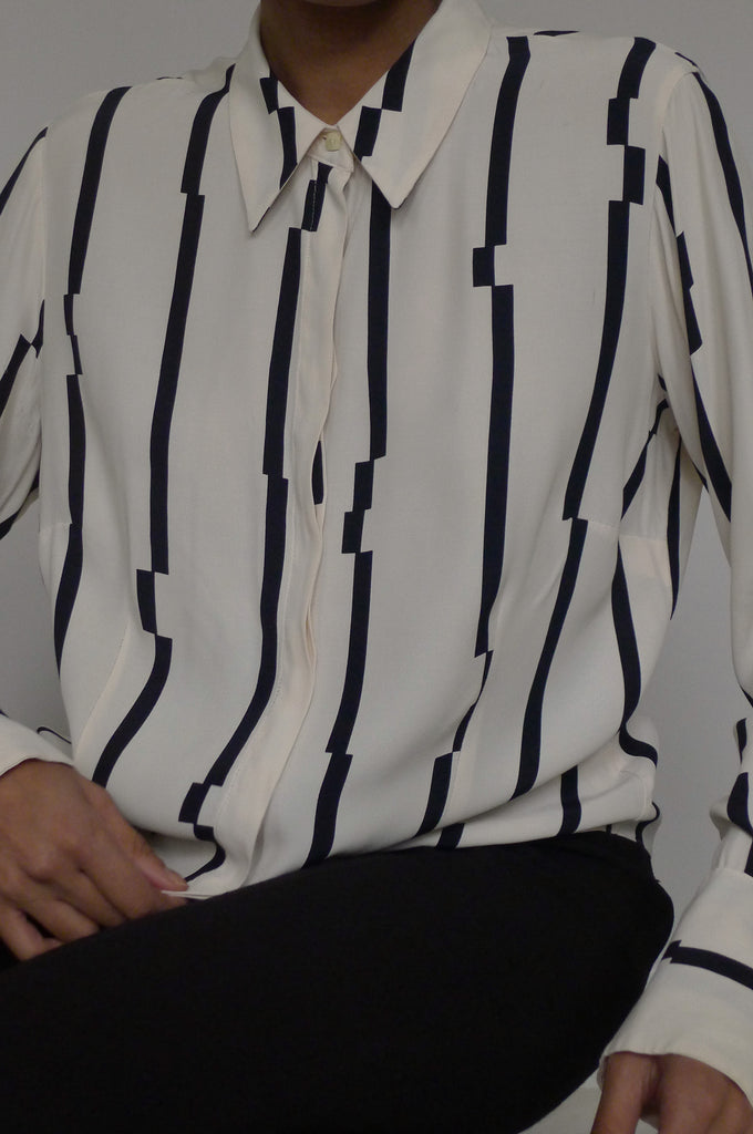 Geometric Stripe Print Shirt