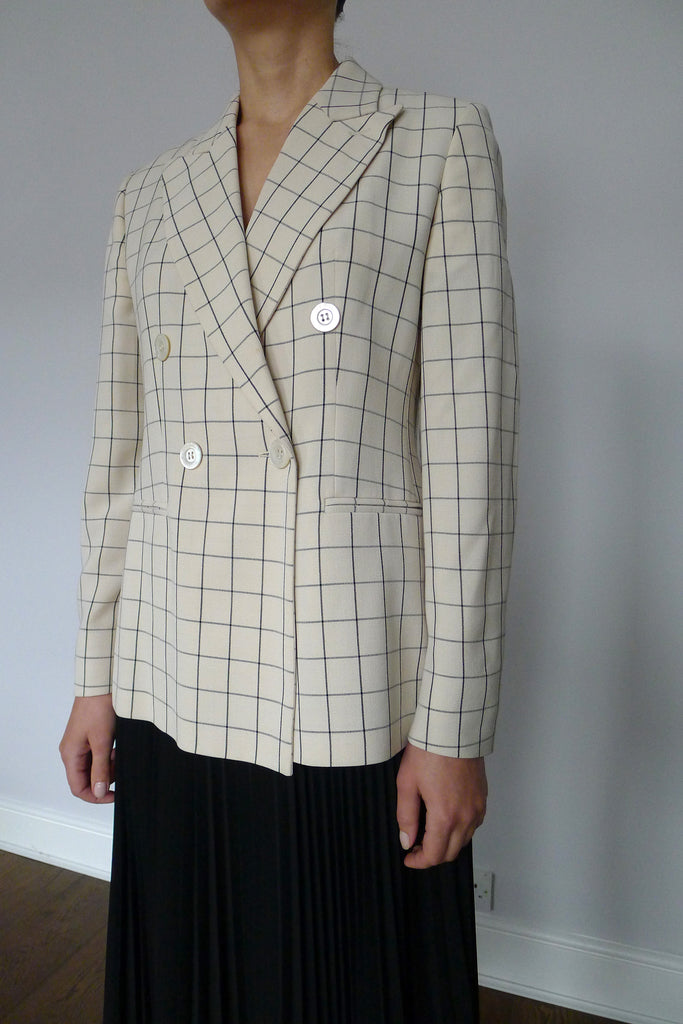 Maxmara Box Check Blazer