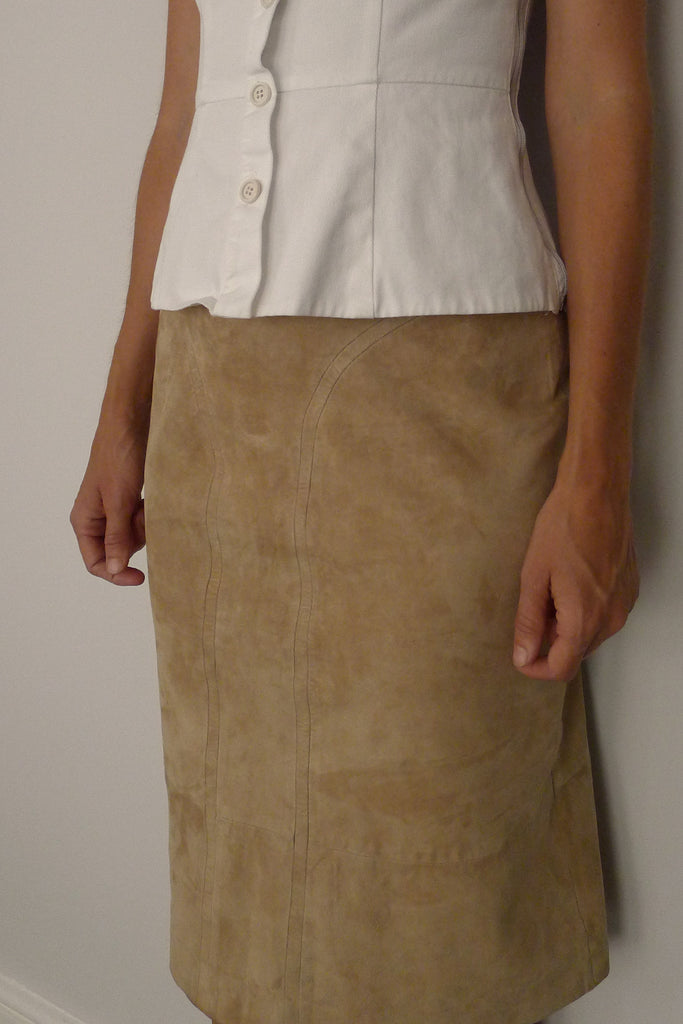 Louis Féraud Suede Skirt