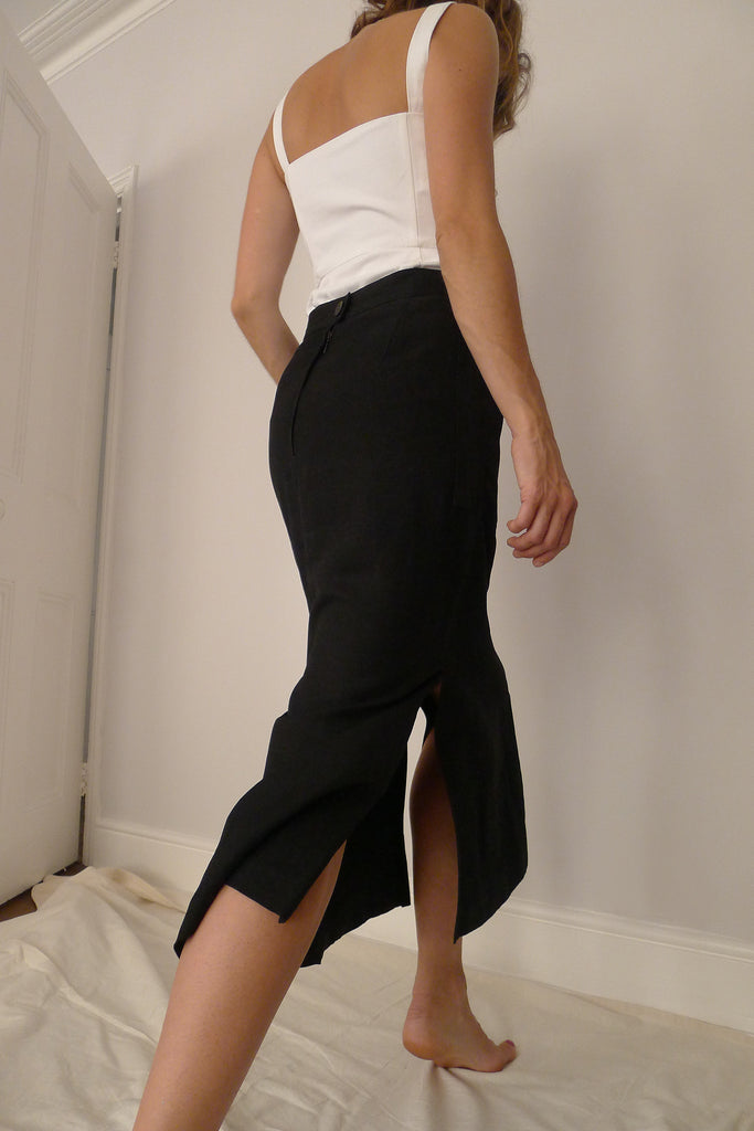 Louis Féraud Split Skirt