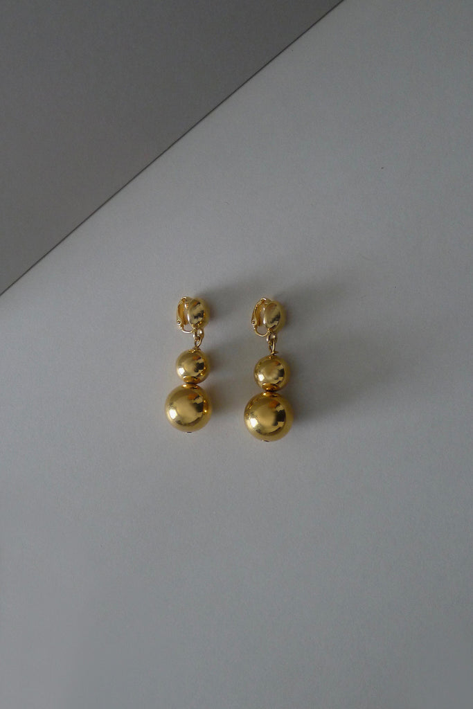 Vintage Ball Drop Earrings