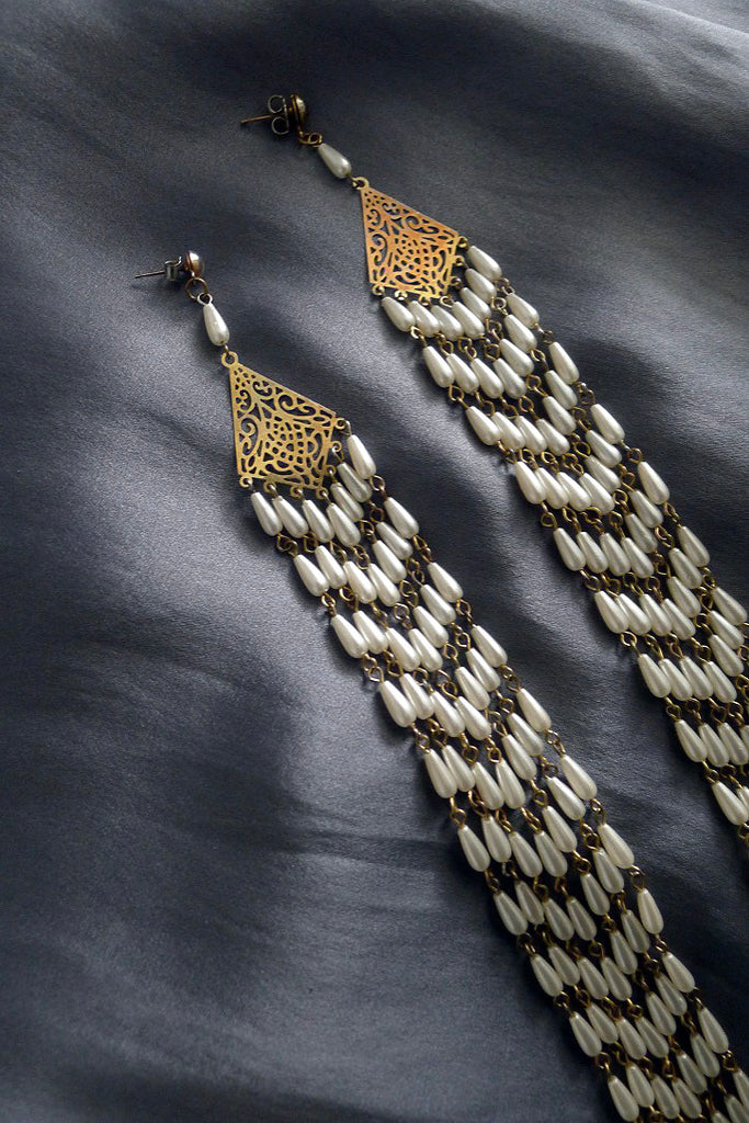 Vintage Multi Strand Earrings