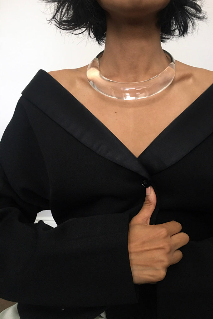 Vintage Clear Lucite Collar