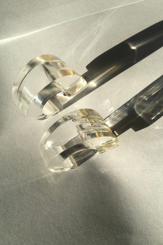 Vintage Clear Lucite Earrings