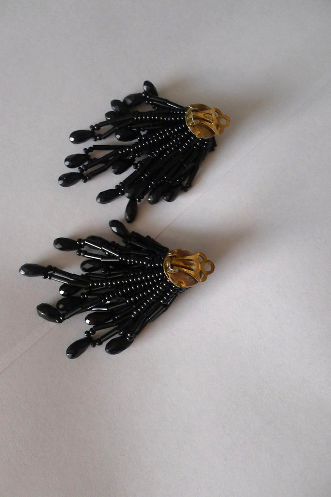 Vintage 1980s Cluster Earrings