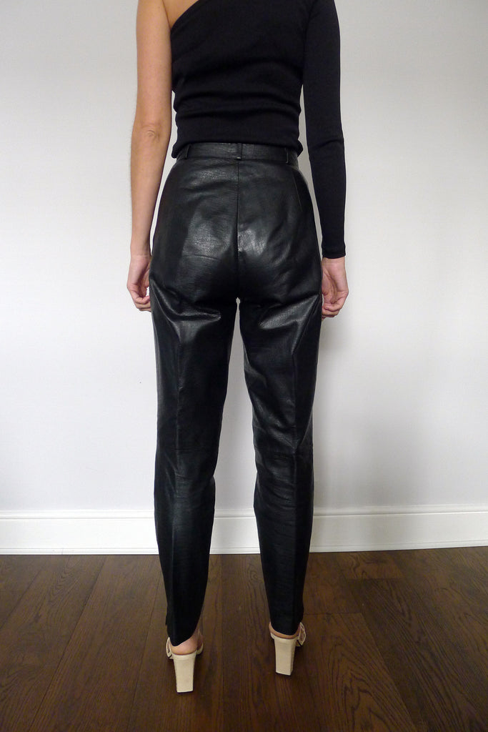 1980s Leather Trousers