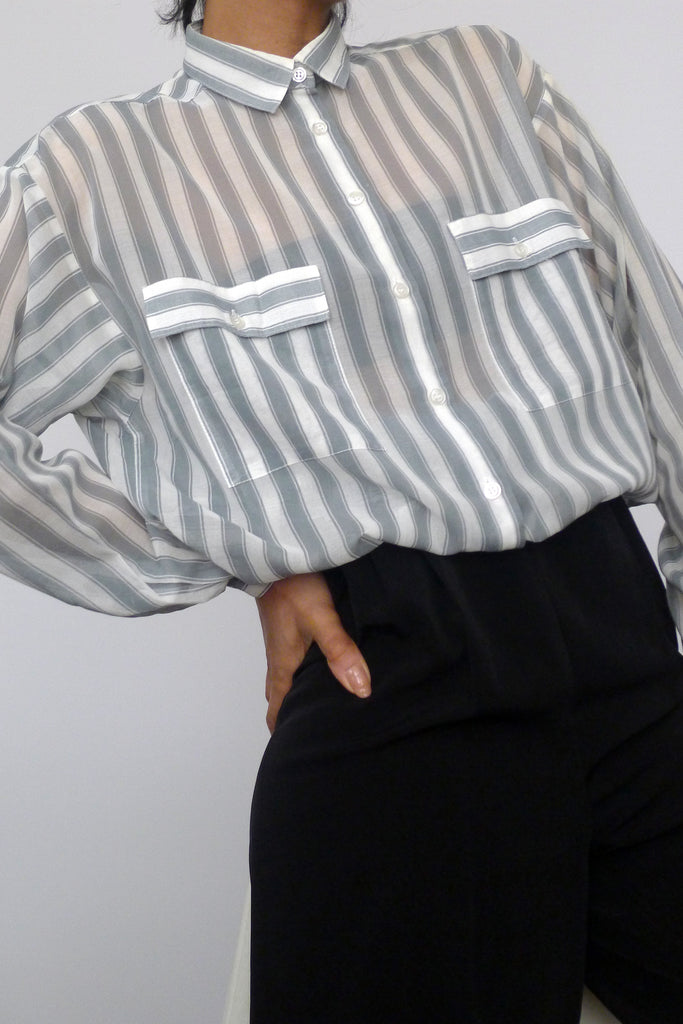 Jaeger Sheer Stripe Shirt