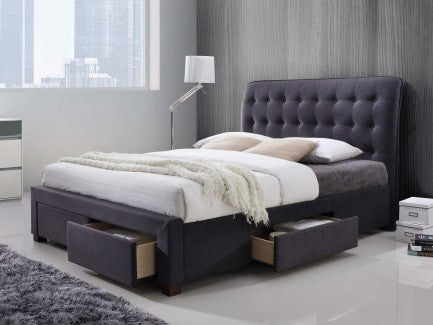 Dark grey fabric storage bed | Artisan  3060 bed frame - bedsmart