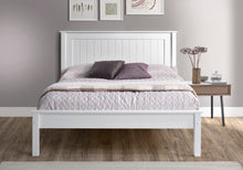 Limelight white wooden double bed frame with low foot end-bedsteads-bedsmart
