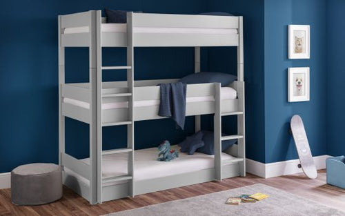 Everest grey trio bunk bed-Childrens Beds-bedsmart