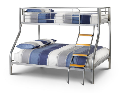 Atlas Triple Sleeper Bunk Bed In Aluminium Finish-Childrens Beds-bedsmart
