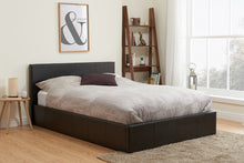 Brown leather ottoman bed | Berlin ottoman available in all sizes-ottoman beds-bedsmart